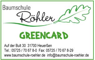 Musterabbildung der Baumschule Röhler Greencard